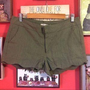 NWT Miami Linen Blend Green shorts